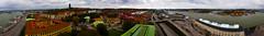 The sailers tower Gothenburg 360° panorama (Sina Farhat) Tags: city autumn trees panorama ballet tower church stairs photoshop canon göteborg harbor sweden gothenburg elevator sigma windy visit photowalk sverige 28 2009 highaltitude fee 30d cs4 adobecameraraw 2470 30kr fotopromenad 360degres sjömanstornet thesailerstower