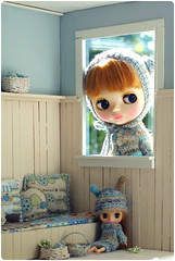 Anyone at home? ^.^ (megipupu) Tags: hat miniature doll dress handmade crochet contest knit blythe hybrid cardigan dollhouse cwc megipupu misssallyrice aubrena photoobsession