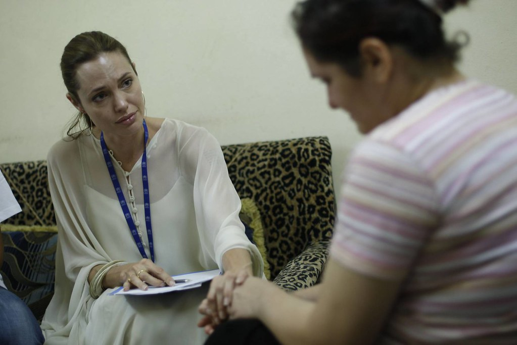 UNHCR News Story: UNHCR Goodwill Ambassador Angelina Jolie urges the world not to forget Iraqi refugees