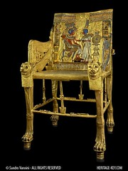 The Golden Throne of King Tutankhamun (Sandro Vannini) Tags: art photography kingtut cobra tomb egypt ankh tutankhamun aren beliefs egyptians egyptianmuseum cairomuseum goldenthrone kv62 sundisk goldenchair ankhsenamun tutankhaten heritagekey kingtutvirtual sandrovannini ankhsenpaaten keyobject1919