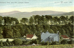 Pentland Hills & Mill Juniper Green c1906