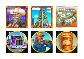 free Texan Tycoon slot game symbols