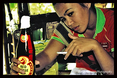 Think Deep and Refresh! (PunkyRocks33) Tags: woman beer girl drinking smoking gal alcohol smoker punky redhorse garbongbisaya punkyrocks33 ilonggophotographersclub