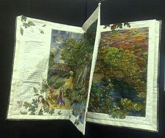 A fairy tale (Murfomurf) Tags: show november geometric fairytale landscape book amazing colours hand quilt display handmade sewing australian australia shades exhibition story fantasy blended quilting adelaide theme figures 2009 stitched handwork intricate quilters piecing