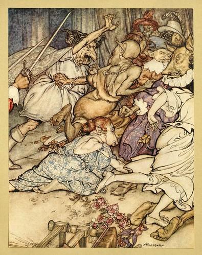 007-Comus de John Milton-ilustrada por Rackham 1921