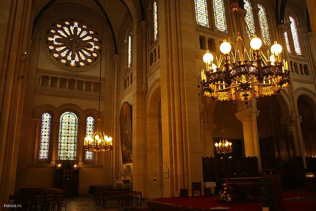 Transept, avec la rosace