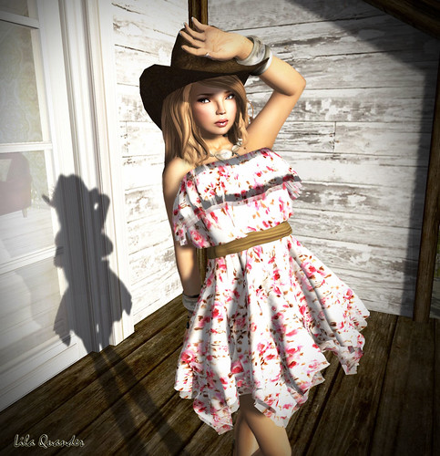 Culture Shock - ~*INDIE ROSE*~ - Frilled Tube Top Dress - [Floral 1]