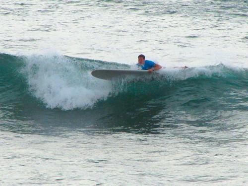 Joshy eats a wave