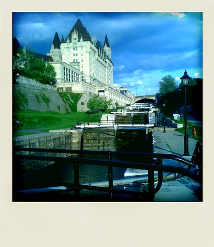 View of the lock and Chateau Laurier