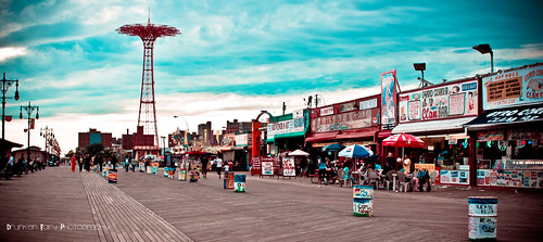 Coney Island Boardwalk by Drunken FairyZ Photography
