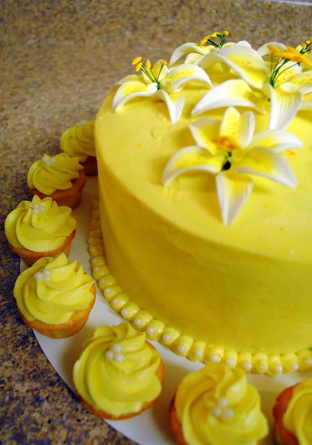 Lemon Cake with Orange/Lemon Butter Cream Frosting with Mini Lemon ...