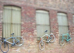 Mini Bicycles (The Adventures of GirlDetective) Tags: chicago miniature bicycles hideout touchandgo tiltshiftmaker