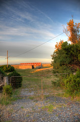Old Shed (Joel Vodell) Tags: road old gate farm shed australia handheld powerline hdr farmlands
