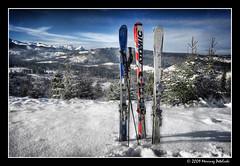 one, two, three - go to ski (Mariusz Petelicki) Tags: family winter ski zima hdr tatry rodzina narty canonefs1022mm 3xp tatramountains canon400d mariuszpetelicki