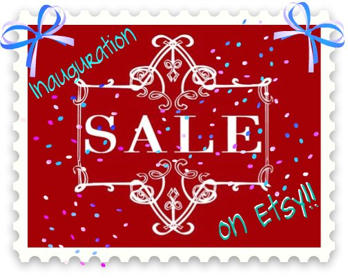 Inauguration Sale Ad for etsy