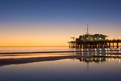Pier at dusk (Nick in exsilio) Tags: california sunset silhouette pier losangeles dusk santamonica