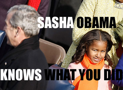 sasha obama knows what bush did