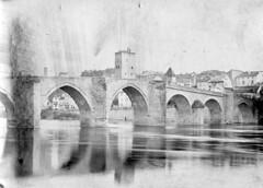Vieux pont, démoli en 1906, Cahors, 1891