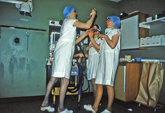 Ninewells  Hospital Dundee Operating Theatre Anaesthetic Room 1970s (HelmsdaleDave) Tags: scotland dundee nhs clogs nurse 1970s anaesthetic nurses operatingtheatre ninewellshospital laryngoscope nhsscotland anaestheticroom anaestheticnurse davidmcrostiemason helmsdaledave