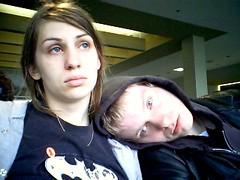 Stomach flu in LAX (Debs ()) Tags: me japan shirt leaving us losangeles webcam stomach jordan tired batman lax sick flu