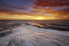 Bilgola TriColour (Tim Donnelly (TimboDon)) Tags: ocean sea sunrise australia rush nsw pictureperfect cokin bilgola abigfave