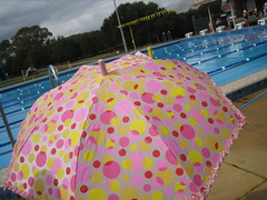Umbrella by the pool