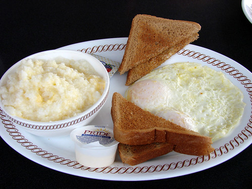 Eggs Grits and toast from WH
