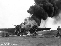 Martin 187 Baltimore attack-bomber in flames during World War II in Africa (gbaku) Tags: world pictures africa 2 two history plane airplane fire photo war martin photos african aviation smoke flames airplanes attack picture baltimore photographs photograph ii planes afrika historical bomber africain afrique africaine classicblackwhite afrikas