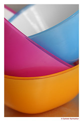 Colourful Plastic Bowls