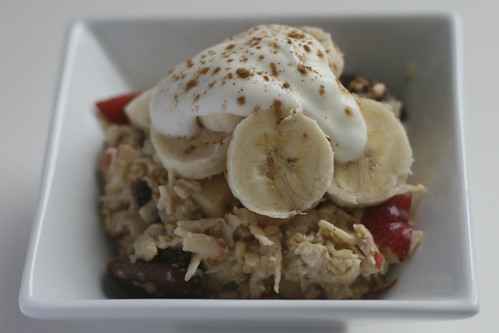 Bircher Muesli with Bananas and Yogurt