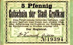 Grottkau, 5 pf, 1917 (Iliazd) Tags: germany inflation notgeld papermoney germancurrency emergencymoney 19171923 germanpapermoney