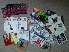 stickerpacks from putup (aus), mr. case (e) (Ohhhhhhhhhhhh) Tags: streetart stickers vinyl collection aufkleber combo slaps macaron putup drcase superfatcat