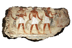 Servants Bringing Offerings. ( Libyan Soup) Tags: rabbit painting hare egypt egyptian egipto britishmuseum fresco gypten egitto egypte egypten ancientegypt servants fragments wallpaintings egiptus egipt egyptianart gypte nebamun egypti  tombart tombpainting egyptianpainting egiptio egiptujo deserthares michaelcohengallery nebamunwallpaintings tombchapel tombchapelofnebamun