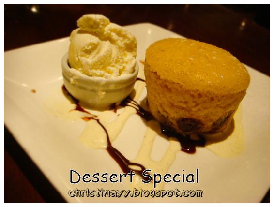 Fire + Ice Restaurant: Dessert Special