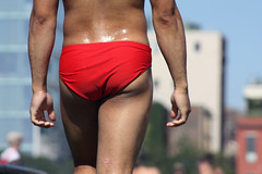 crackage 003 (saidincontext) Tags: new york city nyc sun male men pier christopher crotch shorts bathing tight package speedos