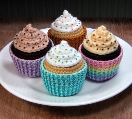 More Amigurumi Cupcakes