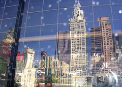 new york skyline reflected in the gridded windows of the adidas building, seen from the top deck of the deuce, riding down the strip, las vegas (kejhu) Tags: camera trip las vegas windows light camp distortion gambling reflection window collage sparkles architecture reflections fun grid experimental day lasvegas modernism kitsch warped drugs newyorkskyline booze huntersthompson empirestatebuilding trippy adidas snowfall gamble twisted newyorknewyork modernist postmodernism ersatz fearandloathinginlasvegas modernity spectacle topdeck tessellated fearandloathing robertventuri experimentalphotography postmodernist postmodernity thedeuce hallucinatory lightfall gridded lasvegasnewyork resipsaloquitur newyorkgrid