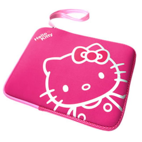AUTH HELLO KITTY LAPTOP MINI NOTEBOOK BAG HOTPINK NEW @ SGD60.00. Brand New