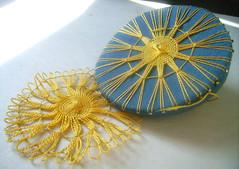 Tenerife lace (Wychbury Designs) Tags: flower thread vintage lace sewing tenerife daisy loom