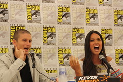 Kevin Pereira and Olivia Munn (Gage Skidmore) Tags: show kevin comic olivia attack 2009 con pereira munn