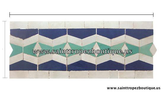 Moorish tile Zellige tile by wwwsainttropezboutiqueus