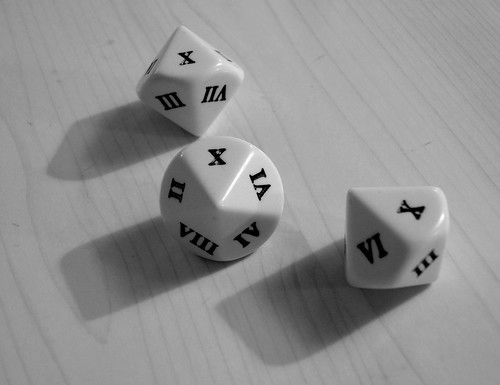 Roman numeral dice by James Bowe.