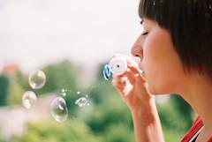 (MilkyAir) Tags: film girl analog iso100 bubbles nysa rossman prakticamtl3 milkyair