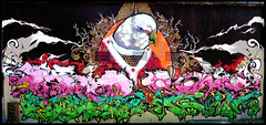 By FAN, SUPERPAUME, REMS (Thias (-)) Tags: terrain streetart wall painting graffiti fan mural pigeon spray painter graff toulouse aerosol bombing rems frenchgraff superpaume ghettofarceur