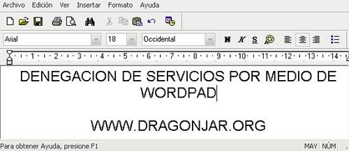 3821737597 60d8196ee7 o Denegacion de Servicio desde el WordPad