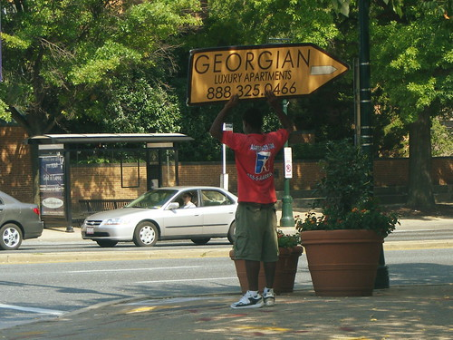 Georgian Sign Flipper Guy