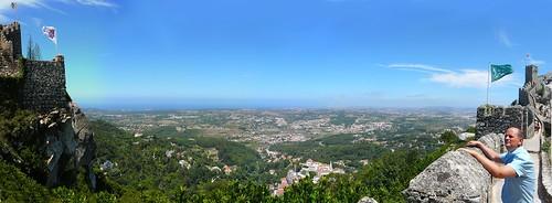 Vista de Sintra desde el Castelo (ver en grande)