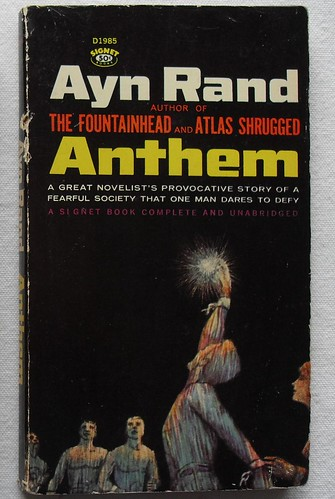 an analysis of anthem by ayn rand Rand's dystopian masterpiece by  oct 12, 2012  the woman is alisa rosenbaum, later to be famous as ayn rand, and her jottings do not concern the relationship between dialectical materialism and the dictatorship of the proletariat  when rand, in anthem,.