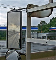 """Storm Brewing Behind Me (""""Mule"""" Symons) Tags: reflection truck mirror rearviewmirror stormclouds"""