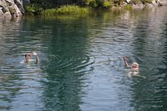 Yvonne & LC swimming in Long Lake near Serene Lakes-02 8-2-09 (lamsongf) Tags: california area summit sierras lc sierranevada donner royalgorge donnersummit donnerarea
